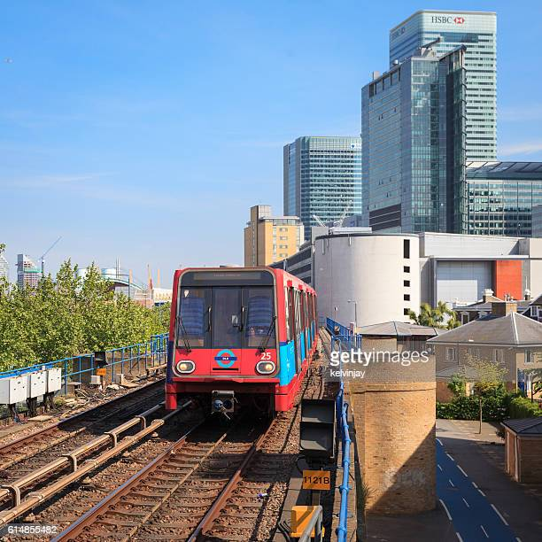 DLR Docklands Light Railway train in City of London