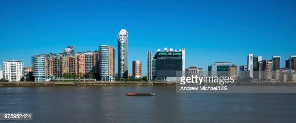 Docklands panorama with Ontario Tower and New Providence Wharf, London