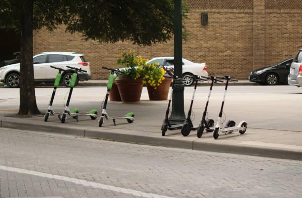 Dockless Electric Scooters Sidewalk - Fine Art prints