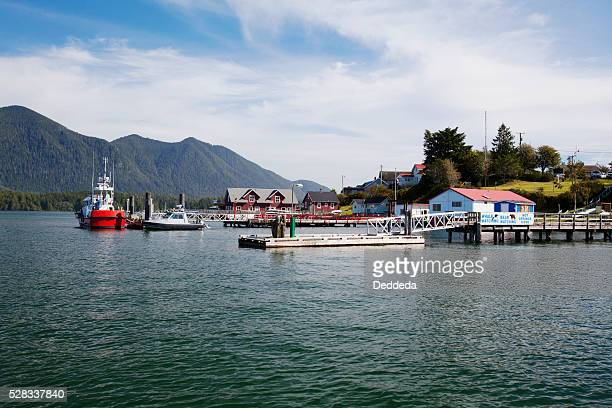 Docks And Boats In The Harbour; Tofino British Columbia Canada