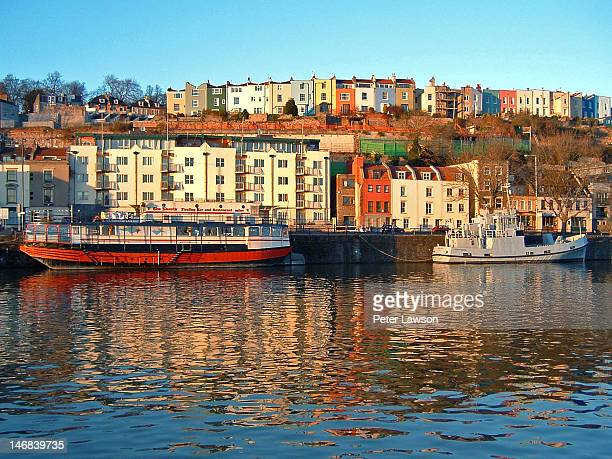 docks near river - bristol england stock pictures, royalty-free photos & images