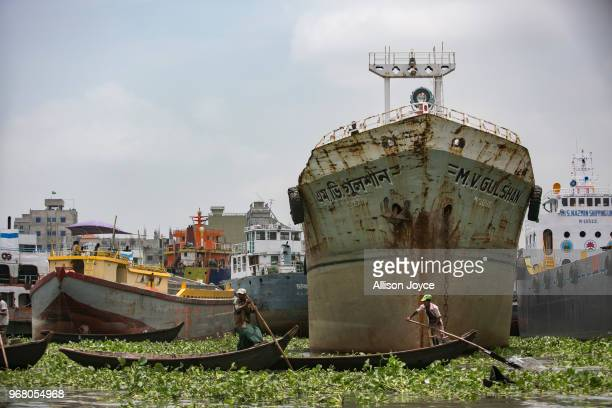 A dockyard is seen on the Buriganga river on June 5 2018 in Dhaka Bangladesh Bangladesh has been reportedly ranked 10th out of the top 20 plastic...