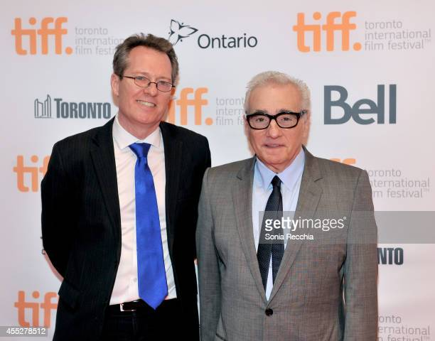 Docs and Mavericks Programmer Thom Powers and Director Martin Scorsese attend the Mavericks Conversation with The 50 Year Argument with Director...