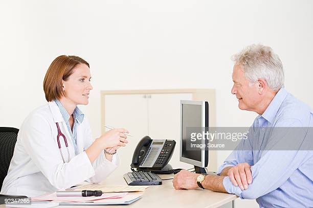 Doctor and male patient