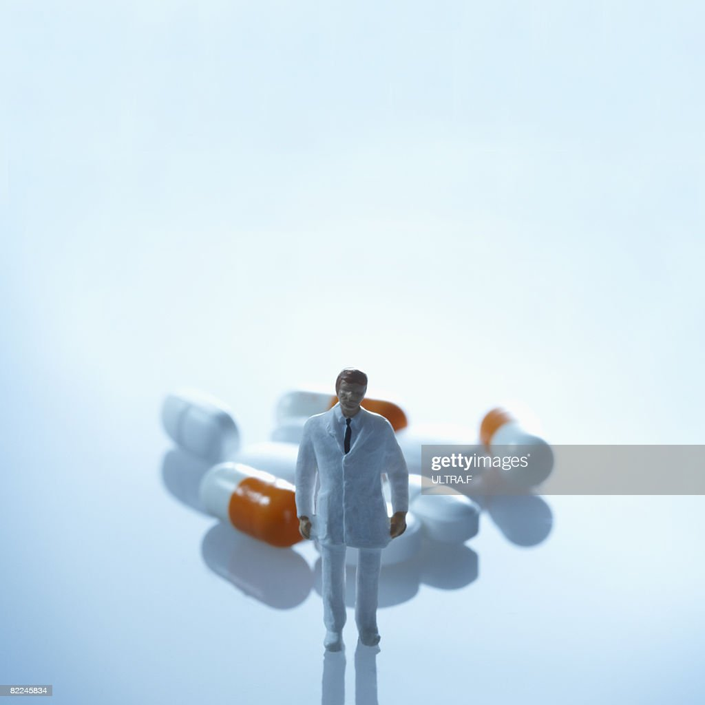 A doctor and medicine. : Stock Photo