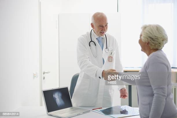 Doctor and patient face to face