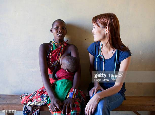 doctor and patient, kenya - hugh sitton stock pictures, royalty-free photos & images
