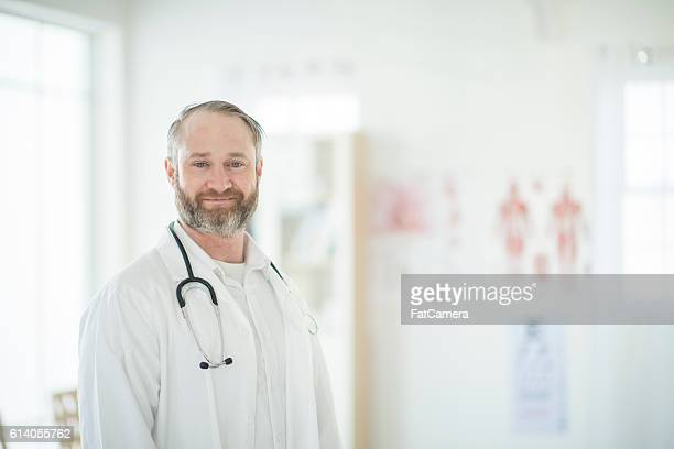 Doctor at Work in His Office