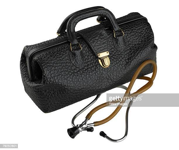 Doctor bag and stethoscope