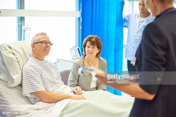doctor bearing good news - anticipation stock pictures, royalty-free photos & images
