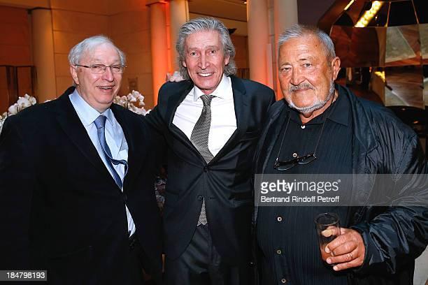 Doctor Bernard Teboul JeanPaul Moureau and OMS Doctor Joachim Kreysler attend the JeanPaul Moureau book signing for 'Soigner Autrement' at Hotel Park...