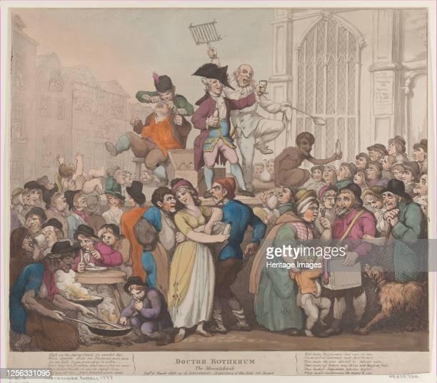 Doctor Botherum, The Montebank, March 6, 1800. Artist Thomas Rowlandson.