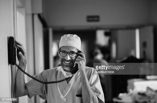 Doctor calling by phone