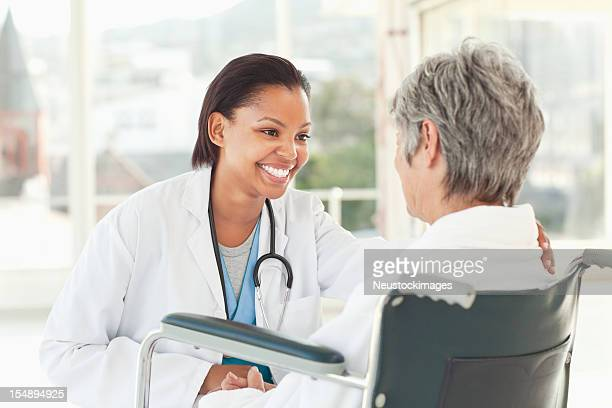 Doctor Checking on an Elderly Patient