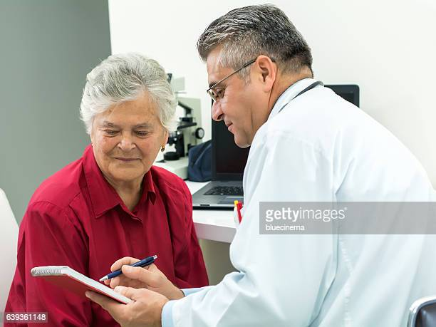 Doctor consulting female patient