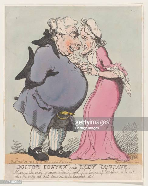 Doctor Convex and Lady Concave, November 20, 1802. Artist Thomas Rowlandson.