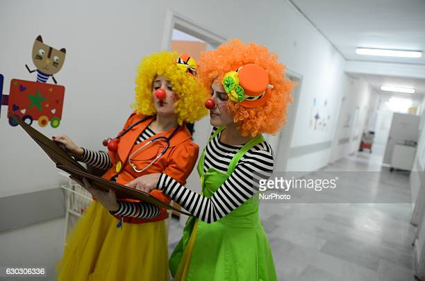 Doctor Cuckoo and Dr Pipi Iva Lapatova and Yanita Kirova performs in the national cardiologycal hospital in the Bulgarian capital of Sofia on...