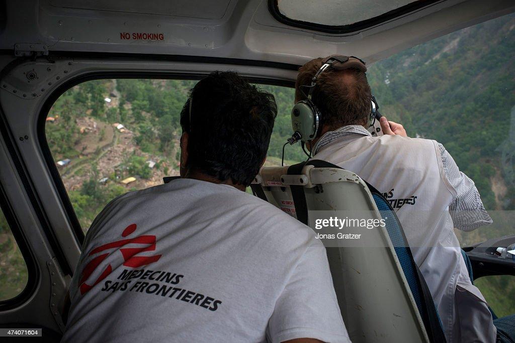 MSF Teams At Work In Nepal Following Devastating Earthquake : News Photo