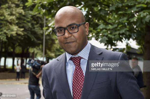 Doctor Dhanuson Dharmasena a registrar in obstetrics and gynaecology at the Whittington hospital in London leaves Southwark Crown Court in London on...
