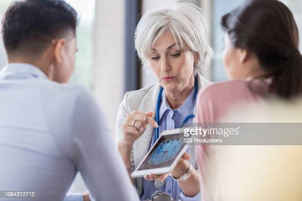 Doctor discusses patient's test results