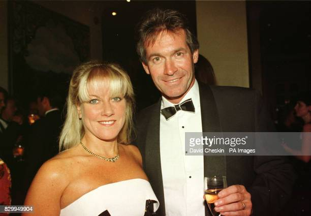 Doctor Dr Hilary Jones and unidentified woman - his wife? - at the TVQuick Awards in London.