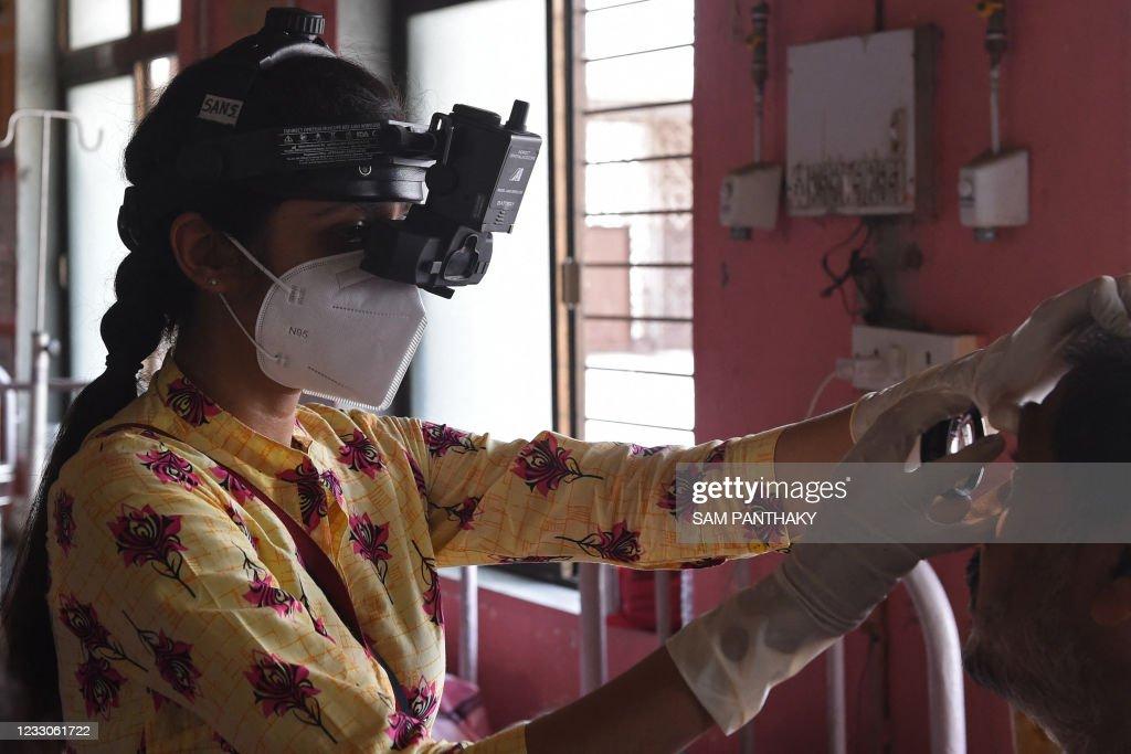 INDIA-HEALTH-VIRUS-BLACK FUNGUS : News Photo