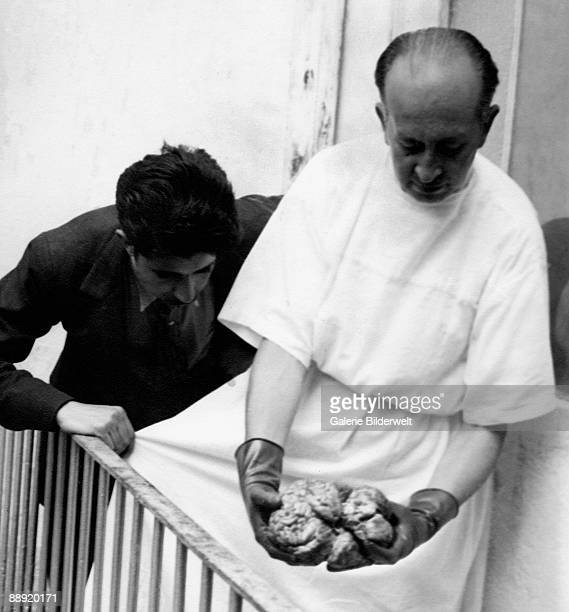 A doctor examines the brain of assassinated Russian revolutionary Leon Trotsky in Mexico City 21st August 1940 Trotsky was murdered by NKVD agent...