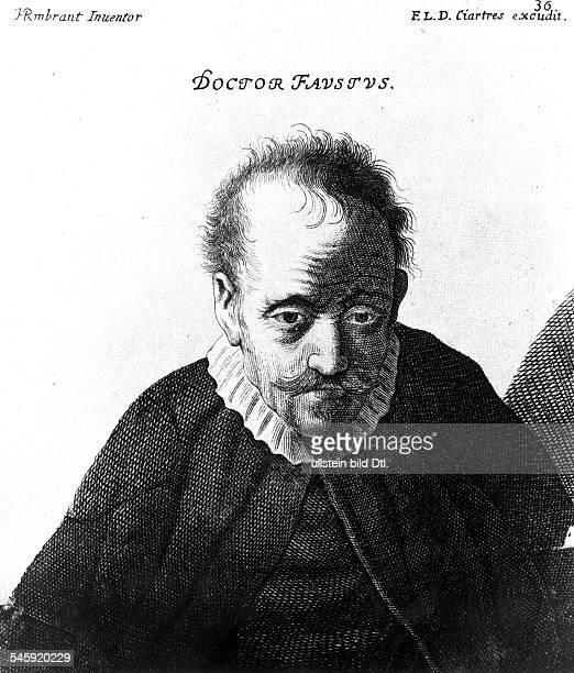 Doctor Faustus nach einem von Francois Langlois deChartres herausgegebenen Stich oJ