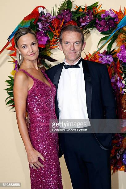 Doctor Frederic Saldmann and his wife Marie attend the Opening Season Gala at Opera Garnier on September 24 2016 in Paris France