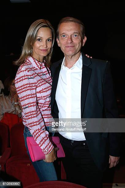 Doctor Frederic Saldmann and his wife Marie attend the 'Trophees du Bien Etre' by Beautysane 2nd Award Ceremony at Theatre Montparnasse on September...