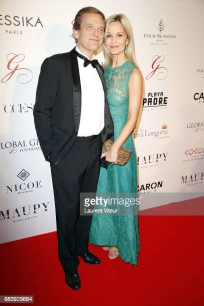 Doctor Frederic Saldmann and his wife Marie Saldmann attend Global Gift Gala 2017 at Hotel George V on May 16 2017 in Paris France