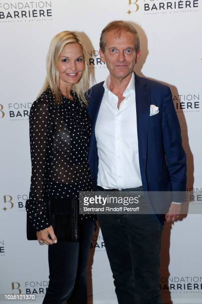 Doctor Frederic Saldmann and his wife Marie Saldmann attend 'Les Chatouilles' Premiere hosted by Fondation Diane Lucien Barriere at Drugstore...