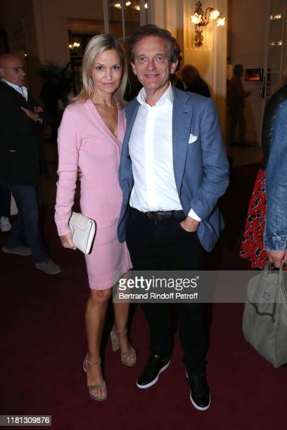 Doctor Frederic Saldmann and his wife Marie Saldmann attend the Palace Theater Play at Theatre de Paris on October 15 2019 in Paris France