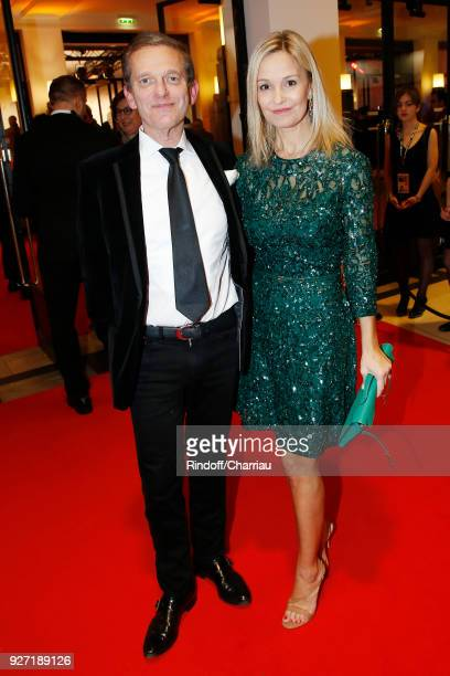 Doctor Frederic Saldmann and his wife Marie Saldmann attend the Cesar Film Awards 2018 at Salle Pleyel on March 2 2018 in Paris France