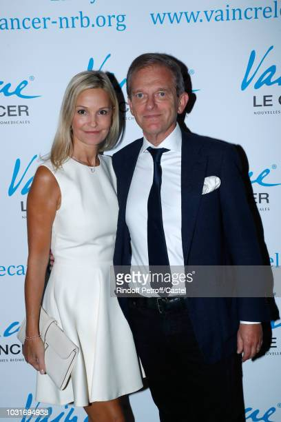 Doctor Frederic Saldmann and his wife Marie Saldmann attend the Vaincre Le Cancer Benefit Party at Cercle de l'Union Interalliee on September 11 2018...
