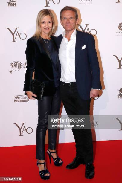 Doctor Frederic Saldmann and his wife Marie Saldmann attend the YAO Paris Premiere at Le Grand Rex on January 15 2019 in Paris France