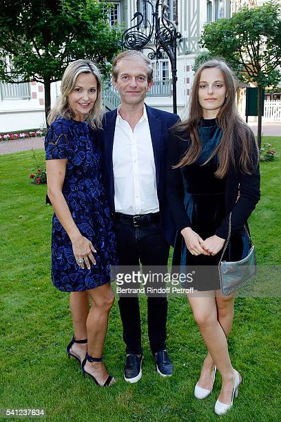 Doctor Frederic Saldmann his wife Marie and his daughter Manon attend the Hotel Normandy ReOpening at Hotel Normandy on June 18 2016 in Deauville...