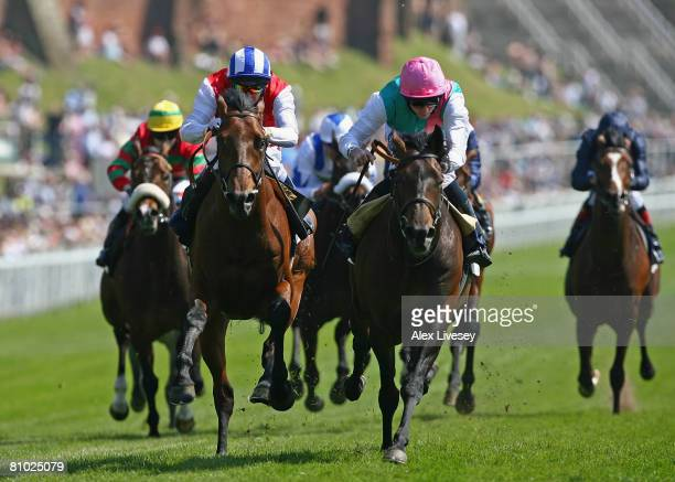 Doctor Fremantle ridden by Ryan Moore beats All The Aces ridden by Philip Robinson to win the Bank of America Chester Vase held at Chester Racecourse...