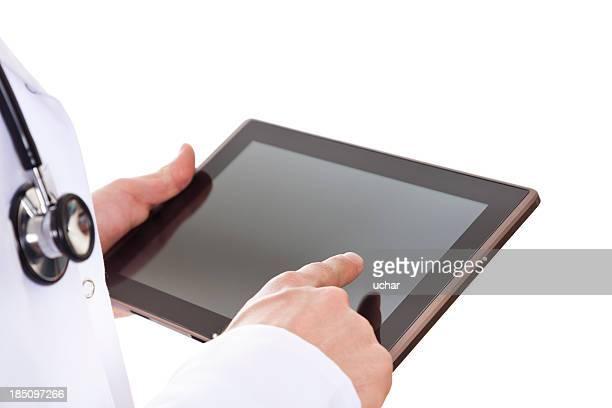Doctor Hands Holding Digital Tablet