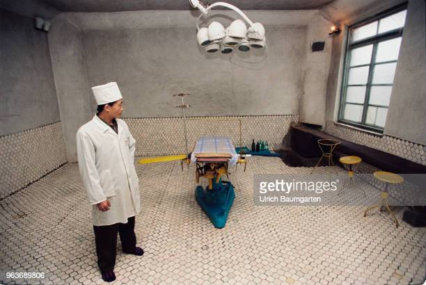Doctor in the operating room of a hospital in Hwasan