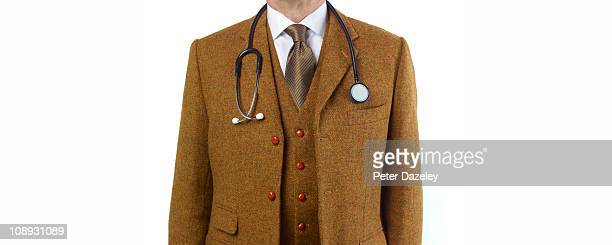 doctor in tweed suit with copy space - ツイード ストックフォトと画像