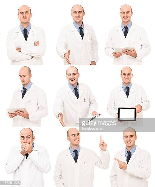 Doctor in various pose