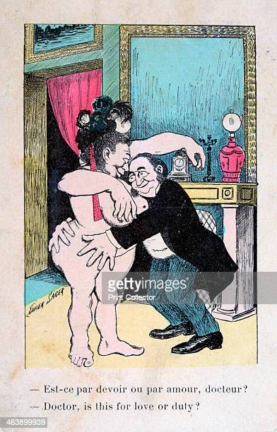 'Doctor is this for love or duty' Vintage French postcard c1900