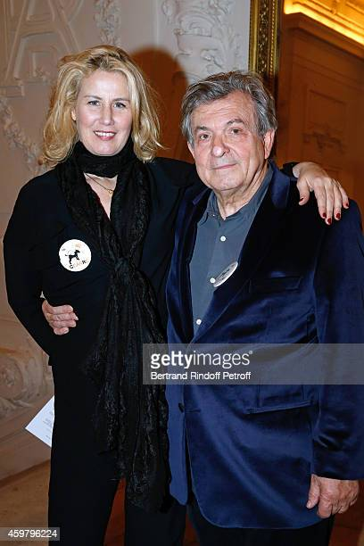 Doctor Jacques Leibowitch and his companion Christine Bergstrom attend Maison Jean Paul Gaultier Hosts 'Le Projet ICCARE Association' Against AIDS at...