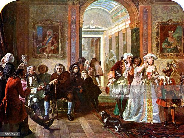 Doctor Johnson in the anteroom of Lord Chesterfield waiting for an audience after the original oil on canvas by Edward Matthew Ward 106 x 1394 cm...