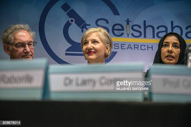 Doctor Larry Corey Glenda Gray president of the country's Medical Research Council and Khatija Ahmed Executive director of the Setshaba Research...