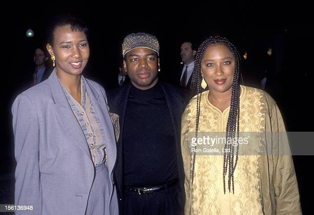 Doctor Mae Jemison Actor LeVar Burton and wife Stephanie Cozart attend the Screening of 'All Good Things' Two Parter Series Finale of 'Star Trek The...