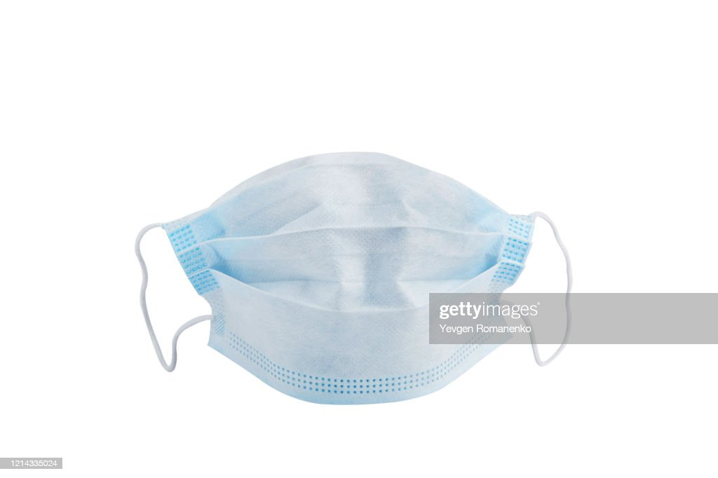Doctor mask and coronavirus protection isolated on a white background : Stock Photo