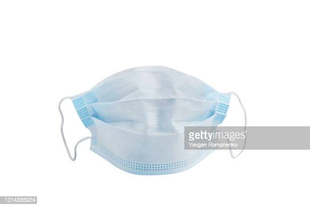 doctor mask and coronavirus protection isolated on a white background - mascaras - fotografias e filmes do acervo