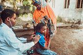 Doctor meet African child